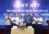 Công ty Điện Lực Nam Định và Đài PT-TH Nam Định tổ chức lễ ký kết thỏa thuận hợp tác truyền thông năm 2018.