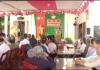 Đồng chí phó bí thư thường trực Tỉnh ủy dự ngày hội đại đoàn kết toàn dân tại xóm 15, xã Hải Tây- huyện Hải Hậu
