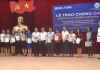 Sở GD và ĐT tỉnh Nam Định phối hợp với Hội đồng Anh tổ chức Lễ bế giảng và phát chứng chỉ cho 160 giáo viên dạy tiếng Anh.