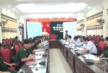 Ban chỉ đạo diễn tập khu vực phòng thủ huyện Giao Thủy, Xuân Trường năm 2017 họp và triển khai nhiệm vụ tới các thành viên.