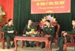 """Ban CHQS huyện Ý Yên tổ chức tọa đàm với chủ đề: """"Sỹ quan, quân nhân chuyên nghiệp trẻ nêu gương, tình thương, kỷ cương, trách nhiệm""""."""