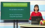 Dạy học trên truyền hình: Ôn tập kiến thức Anh Văn 12 - TOPIC REVIEW: BÀI THI THAM KHẢO ( 23/04/2020 )