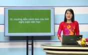 Dạy học trên truyền hình: Ôn tập kiến thức Ngữ Văn 12 - PHÂN TÍCH ĐỀ VÀ HƯỚNG DẪN CÁCH LÀM ĐỀ THI THAM KHẢO 2020 _ TIẾP THEO ( 01/05/2020 )