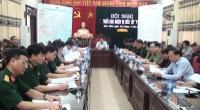 Ban chỉ đạo diễn tập khu vực phòng thủ các huyện Ý Yên, Vụ Bản Mỹ Lộc họp và triển khai nhiệm vụ .