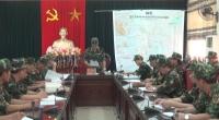Bộ Chỉ huy quân sự tỉnh tổ chức diễn tập chỉ huy cơ quan 1 bên 1 cấp trên bản đồ năm 2019 .