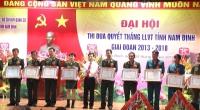 Đại hội Thi đua quyết thắng (TĐQT) lực lượng vũ trang tỉnh giai đoạn 2013 – 2018.