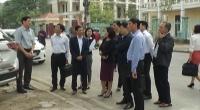 Đoàn giám sát của HĐND tỉnh làm việc với UBND thành phố Nam Định về những nội dung liên quan đến đất đai.