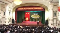 Hội nghị học tập, quán triệt, triển khai thực hiện Nghị quyết số 35 – NQ/TWcủa Bộ chính trị khóa XII và thông tin tình hình thời sự đối với cán bộ chủ chốt của tỉnh.