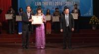 Lễ trao giải Hội thi sáng tạo kỹ thuật tỉnh Nam Định lần thứ VI (năm 2016- 2017).