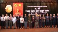 Lễ trao tặng Huy hiệu Đảng cho các Đảng viên của Đảng bộ thành phố