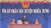 Tòa án nhân dân (TAND) huyện Nghĩa Hưng mở phiên tòa lưu động