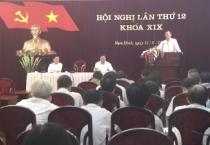 Ban chấp hàng  Đảng bộ tỉnh tổ chức hội nghị lần thứ 12, khóa 19