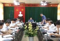 Đoàn giám sát số 1 của HĐND tỉnh giám sát tại huyện Trực Ninh.