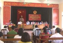 Đồng chí Trần Lê Đoài – phó chủ tịch UBND tỉnh, cùng các đại biểu HĐND tỉnh, HĐND huyện Mỹ Lộc đã có buổi tiếp xúc cử tri xã Mỹ Tiến, huyện Mỹ Lộc.