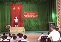 Hội đồng Giáo dục Quốc phòng - An ninh huyện Trực Ninh tổ chức lớp bồi dưỡng kiến thức QP-AN cho các vị chức việc Thiên Chúa Giáo năm 2017.