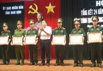 Hội nghị tổng kết 24 năm thực hiện pháp lệnh bảo vệ công trình quốc phòng và khu quân sự, giai đoạn 1994 đến 2018.