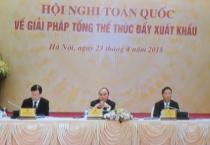 Hội nghị trực tuyến toàn quốc tìm giải pháp tổng thể thúc đẩy xuất khẩu