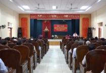 """Huyện ủy Mỹ Lộc tổ chức hội nghị học tập và làm theo tư tưởng đạo đức, phong cách Hồ Chí Minh về phòng chống suy thoái tư tưởng chính trị, đạo đức lối sống """"Tự diễn biến, tự chuyển hóa"""" trong nội bộ."""