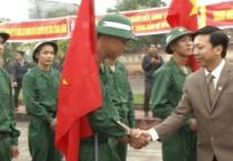 Huyện Xuân Trường tổ chức lễ giao, nhận quân 2018.
