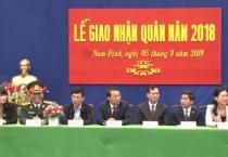 Lễ giao nhận quân tại thành phố Nam Định.