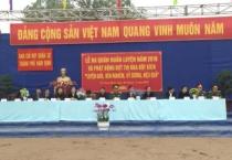 Lực lượng vũ trang thành phố Nam Định tổ chức lễ ra quân huấn luyện giai đoạn I năm 2018