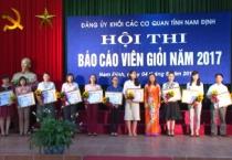 PS  Đảng bộ khối các cơ quan tỉnh Nam Định ĐỔI MỚI VÀ PHÁT TRIỂN