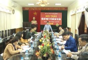 Sở Tư pháp tổ chức hội thảo vấn đề pháp lý về đấu giá tài sản trên địa bàn tỉnh.