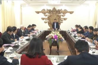 Hội nghị cho ý kiến vào bản dự thảo lần 1 báo cáo chính trị của Ban chấp hành Đảng bộ tỉnh lần thứ XIX trình tại Đại hội Đảng bộ tỉnh lần thứ XX, nhiệm kỳ 2020 – 2025.