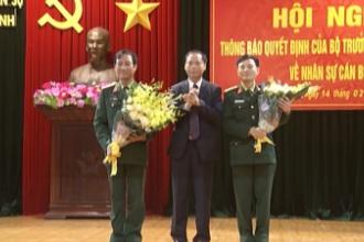 Hội nghị thông báo Quyết định của Bộ trưởng Bộ Quốc phòng về nhân sự cán bộ.