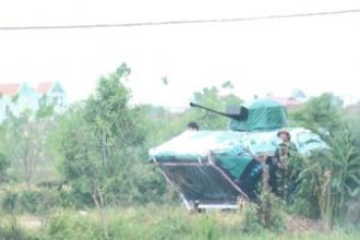 Huyện Giao Thủy tổ chức diễn tập chiến đấu phòng thủ phường, xã năm 2017.